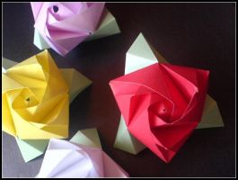 Cube Roses II by lonely--soldier