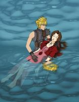 Aerith's death by odinforce23