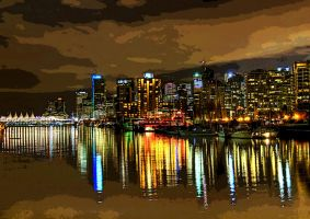 Colourful Vancouver by neverleft
