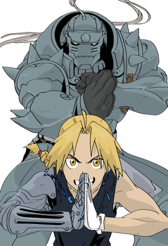 Alphonse and Edward Elric by Sinned1990PD
