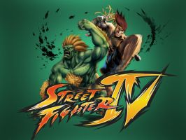 Blanka and Adon- SF IV by khotebabu