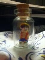 Monkey D. Luffy in a Bottle by redhedsaysrawr