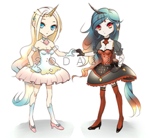 Adoptables: Unicorn Sisters [CLOSED] by soda222