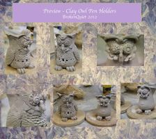 PREVIEW - Clay Owls by BrokenQuiet
