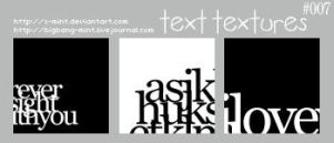 Text Textures by x-mint