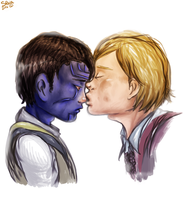 Little kiss - Loki and Thor by ilcielocapovolto