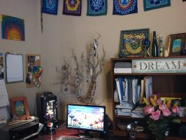 Other side of my studio work space by andromeda