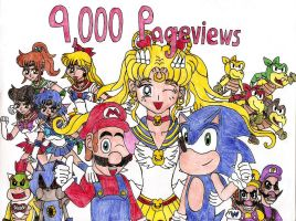 9,000 Pageviews by MarioSonicMoon