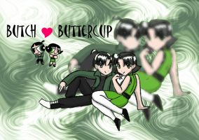 Buttercup and Butch by kimanime