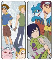 Digimon Bookmarks - TEAMWORK by AliWildgoose