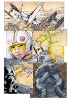 Coloring - Star Wars - X-wing Vs Tie-Fighter by andreranulfo