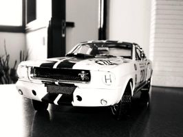 shelby gt350 scale 1 18 black and white by EnriqueGomez