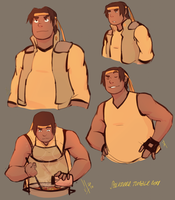 Hunk Sketches by SolKorra