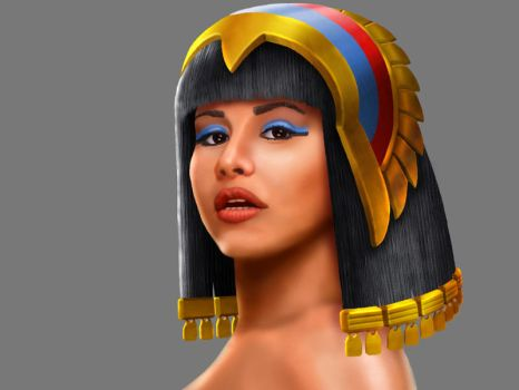 Game Character - Cleopatra by TheArtOfSanhueza