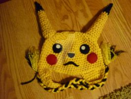 Crochet Pikachu Beanie by AAMurray