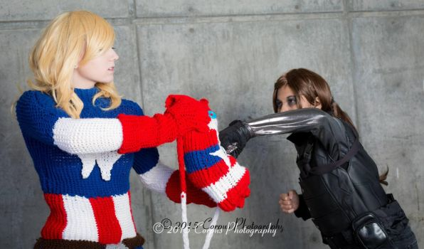 Shield (Knitted Captain America - Marvel) by FangirlPhysics