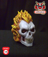 1.6 Head Sculpture ghostrider2 by wongjoe82