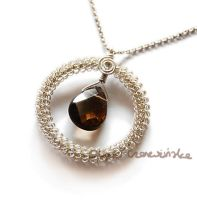 Smoky quartz round pendant by OlgaC