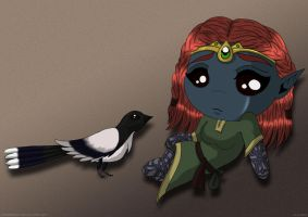 Little Magpie by AirieFeristo