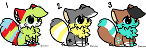 5 point chibi kitties CLOSED by AmazingAdoptablez