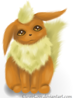 Fluffy Pokemon art: Flareon by CleverLove