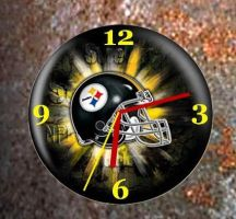 Steelers Clock 1.0 by JftArt