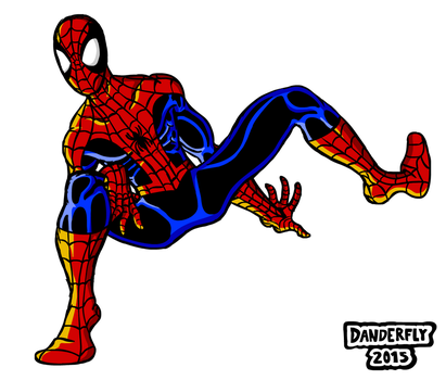 Odd Spidey Pose by DanderFly