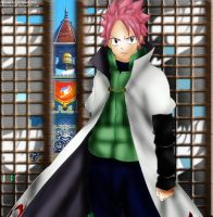 Natsu on yondaime hokage clothes by brownman06