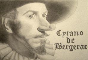 Cyrano de Bergerac by thechikwiththepencil
