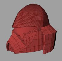 Coruscant Guard 3D helmet WIP1 by torsoboyprints