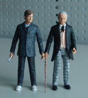 1st Doctor and 10th by DarkAngelDTB
