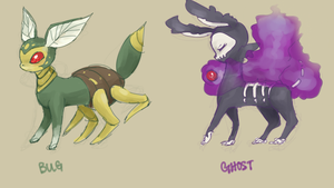 Bug and Ghost type by Dollylonn
