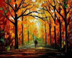 Fall by Leonid Afremov by Leonidafremov