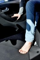 Getting in the car Barefoot by Foxy-Feet