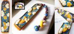 Starry Night Polymer Clay Bookmark by Saru-Hime