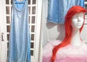 Ariel blue sparkling dress - The little mermaid by yunekris