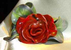 Black and Red Rose by DKayCrafts