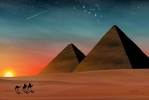Great Pyramids of Egypt by Spirit-Knight