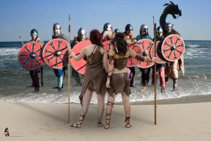 Outnumbered Vikings Standoff by Rowdy-Dawg