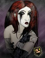 white face, black tears by Anxelique