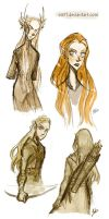 The Hobbit II - elves by Eis91