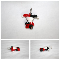 Harley Quinn charm by LittleLoveInc