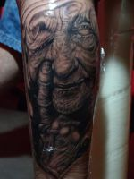 Old woman tattoo by ACrowley