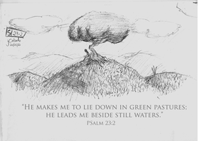 Psalm 23.2 by eJcalado