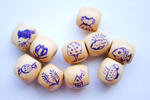 10 painted beads by ZephyrosWind