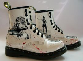 The Walking Dead customised Dr Martens Right Side by RTyson