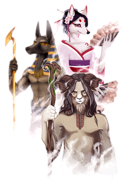 Furry in folklore by nightgrowler