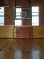 Basketball court and goal stock 6 by dhbraley