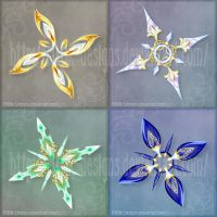 Shurikens adopts 4 (CLOSED) by Rittik-Designs