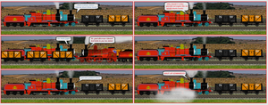 Sodor Sillies - 'Red Engines NEVER Shunt Trucks.' by Nictrain123
